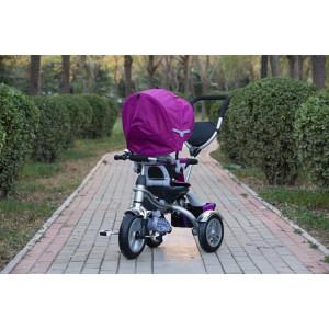 CHIPOLINO Tricikl sa ručkom I sedistem koje se rotira za 360 tempo ljubičasti 710053