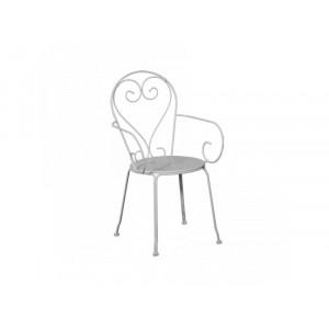 MOKA metalna stolica bela 051117