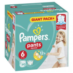PAMPERS PANTS GPP 6 LARGE (60)