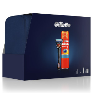 GILLETTE XMAS FLEXB1UP + FUS5 200ML+TBAG