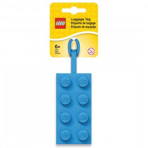 LEGO etiketa za torbu: Plava kocka