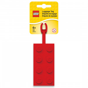 LEGO etiketa za torbu: Crvena kocka