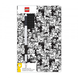 LEGO dnevnik sa crnom gel olovkom