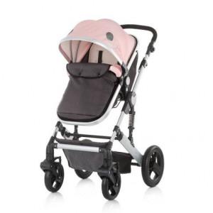 CHIPOLINO Kolica za bebe sa autosedištem TERRA pink rose 710093