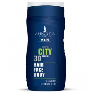 AFRODITA šampon & gel za tuširanje MEN CITY 3D 250ml