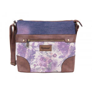 PULSE torba na rame Jeans Floral 121349