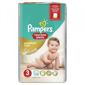 Pampers Premium Pants VP 3 Midi (56) 4015400732198