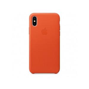 APPLE iPhone X Leather Case - Bright Orange MRGK2ZM/A