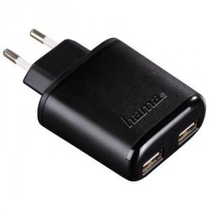 """HAMA dvojni USB punjač """"Auto-Detect"""" 5 V/4.8 A 123585"""