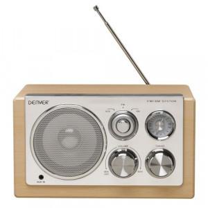 DENVER FM radio TR-61 LIGHT WOOD