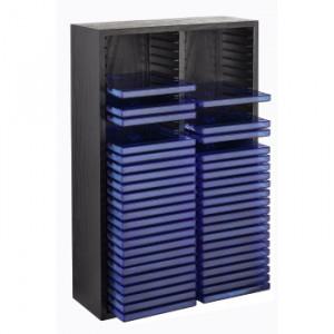 HAMA drvena polica za 60 CD-ova CRNA 33890
