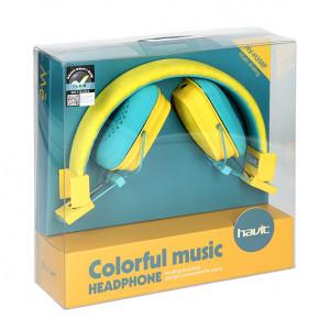 HAVIT slušalice 358F Žuta/Plava