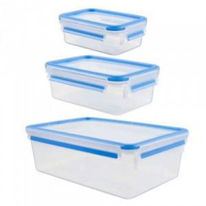 EMSA set plastičnih posuda CLIP&CLOSE  3/1 K3028912 0,55/./2,30 l