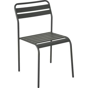 Cadiz metalna stolica - tamno siva 055676