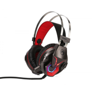 Slušalice USB Marvo HG8914 3.5MM+USB gejmerske sa mikrofonom i LED osvetljenjem crno/crvene 006-0316