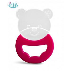 ELFI silikonska glodalica sa drškom RK20 - roze - O