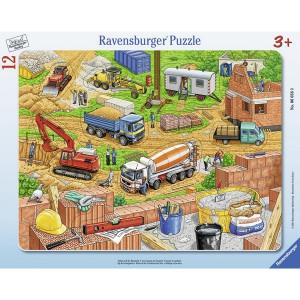 RAVENSBURGER puzzle - mašine na gradilištu RA06058