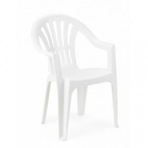 KONA baštenska stolica plastična bela 029086