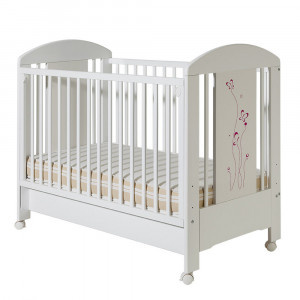 BAMBINO dečiji krevetac Lolek belo roza sa fiokom 603