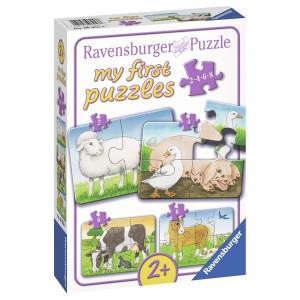 RAVENSBURGER puzzle - moje prve puzle, 4 u 1, domaće životinje RA06953
