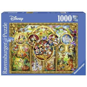 RAVENSBURGER puzzle (slagalice)- diznijevi likovi u zlatu 1000 RA15266