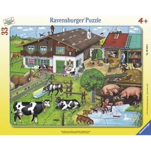 RAVENSBURGER puzzle - porodice životinja RA06618