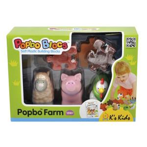 KS KIDS popbo farma prase, ovca, kokoška + 4 dela za ogradu KA10649-GB