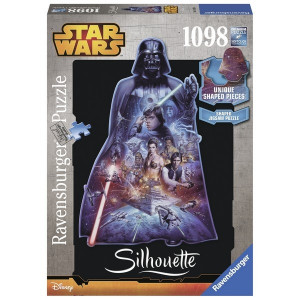 RAVENSBURGER puzzle (slagalice)- Darth Vader silueta RA16158