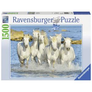 RAVENSBURGER puzzle (slagalice) - belo konji u galopu RA16285