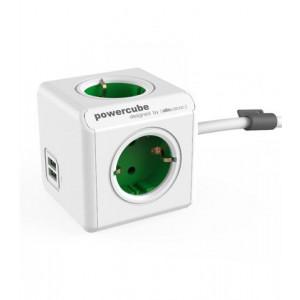 POWERCUBE produžni kabl zelena