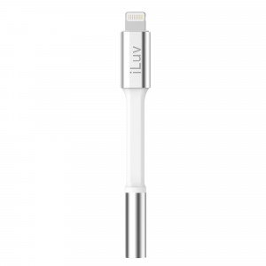 Apple MFI Lightening to 3.5mm Audio Jack  White