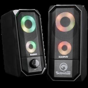 Zvučnici 2.0 Marvo SG265 snage 2x3W RGB LED osvetljenje sa kontrolom za osvetljenje  005-0215