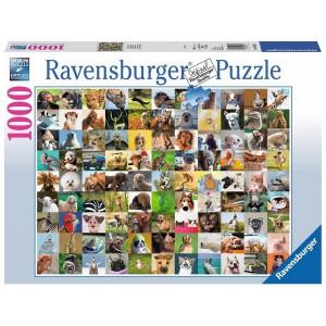 RAVENSBURGER Ravensburger puzzle (slagalice) - zabavne životinje RA19642