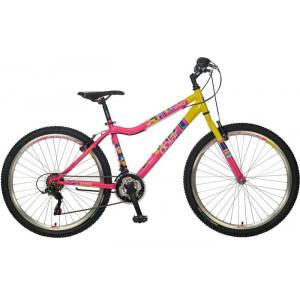 BICIKL POLAR TRINITY pink-yellow B262S20180