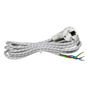 COMMEL Priključni kabl za peglu 6A 250V 1300W 2m H03RT-H 3G 0,75 C0333