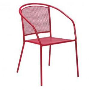 ARKO Baštenska metalna stolica crvena 051114