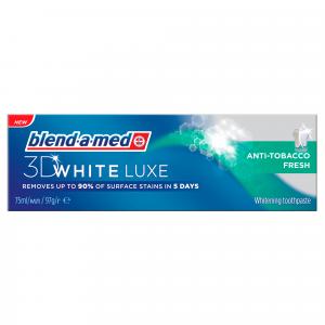 ORAL B pasta za zube 75 ML 3D white lux anti tobacco Blend-a-med
