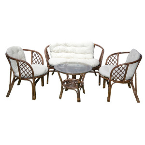 BAŠTENSKA GARNITURA BAHAMA RATTAN SET BROWN