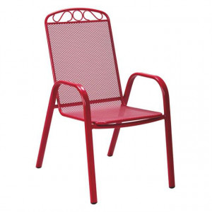 MELFI metalna stolica crvena 051122