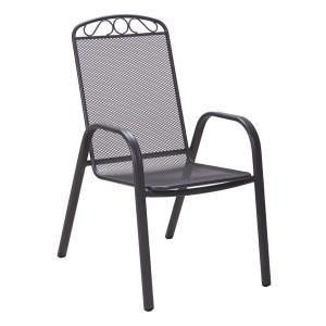 MELFI metalna stolica siva 051124