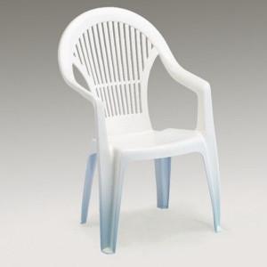 Baštenska stolica plastična bela - VEGA 030765
