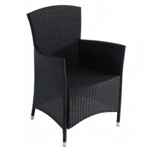 Baštenska fotelja od ratana ATLANTIC crna 047011