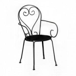 MOKA Metalna stolica Crna 060352