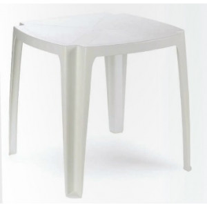 Baštenski sto plastični 75 x 75cm – beli TAVOLO 75 029091