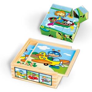VIGA drvene kocke puzzle saobraćaj 8946