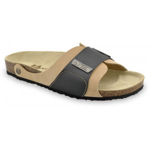GRUBIN muške papuče 1594010 DARKO Bež 40