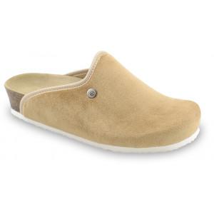 GRUBIN ženske papuče tople 157366 CAKI Bež