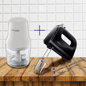 PHILIPS mikser HR3705/10 crni + PHILIPS Seckalica HR 1393/00