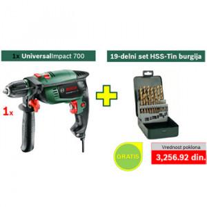 Bosch vibraciona bušilica UniversalImpact 700 + POKLON 19-delni set burgija za metal