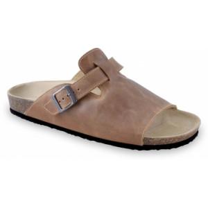 GRUBIN muške papuče 1044010-SYDNEY, Braon 40
